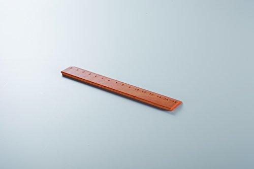 Lineal aus geöltem Birnenholz, 15 cm lang mit gravierter Skala