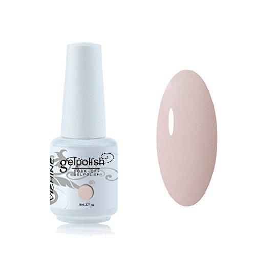 Vishine Vernis à ongles 8ml Semi-permanent Gel Polish UV LED Soak Off Manucure Seashell #1345