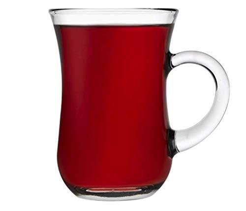 Pasabahce Teegläser mit Henkel Trinkgläser 6Stk. Cay Bardagi Tee Glas Teeglas keyif