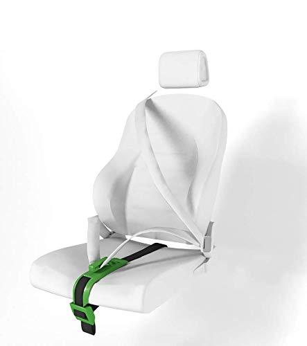 ZUWIT Ajustador de cinturón de Seguridad para Mujeres Embarazadas, Comodidad para el Vientre de Las Madres Embarazadas, un cinturón de protección imprescindible para Las Madres Embarazadas (Verde)