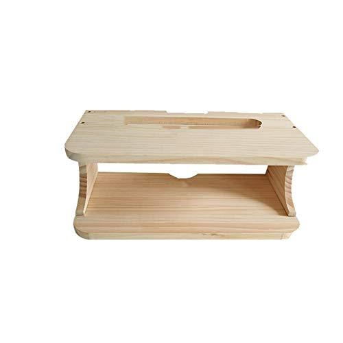DHF Set-Top Box De Madera Maciza Montado En La Pared , WiFi Router Estante Caja De Almacenamiento Socket Occlusion Box. (Color : Wood)
