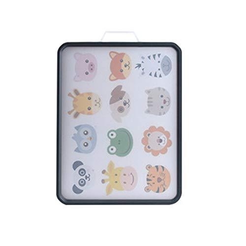 XMSIA Tabla de Cortar y Picar Patrón de Dibujos Animados Tablero de Corte Multifuncional de Doble Cara 304 de Acero Inoxidable para Carne, Verduras (Color : C, Size : 42X29.5CM)