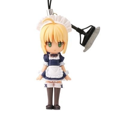 Fate / Stay Night Cspdule Q ~Fortune Figure Cell Phone Charm Strap~ Saber Maid costume~Middle Luck