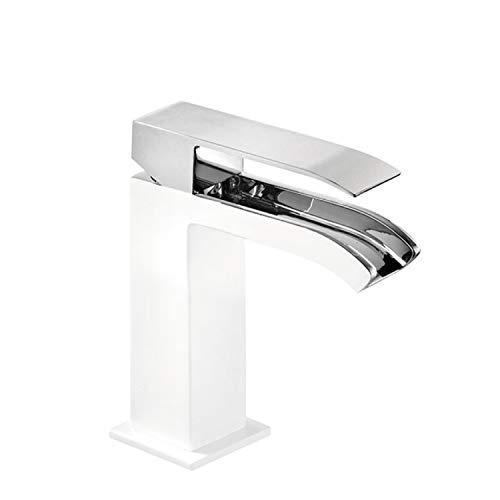 CUADRO EXCLUSIVE Monomando lavabo con caño cascada libre. NOTA: La grifería con caño cascada se acompaña con 2 llaves de regulación con filtro (Ref: 91.34.525).
