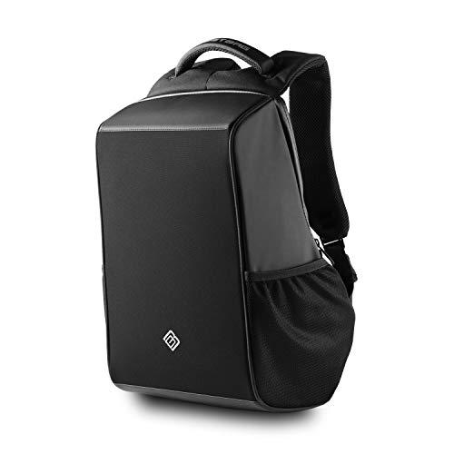 BoostBag Shadow Anti Theft Backpack - Boostboxx Anti Diebstahl Rucksack mit Fächern für Reisepass, Kreditkarte mit RFID Schutz, 15,6