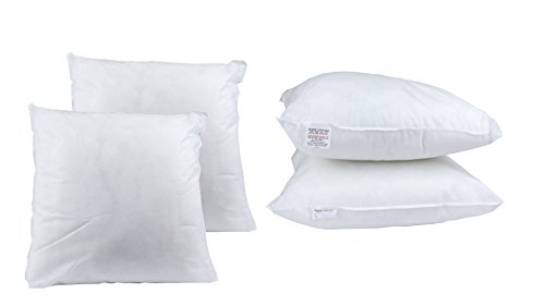 BEDWAY 15' x 15' Cushion fillers Hollowfibre Filling Cushion Inserts Pads Non Allergic (38cm x 38cm) -Pack of 4