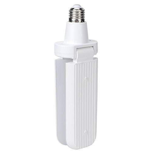 Redxiao 【𝐕𝐞𝐧𝐭𝐚 𝐏𝐫𝐢𝐦𝐚𝒗𝐞𝐫𝐚】 Lámpara LED Plegable de luz LED para Techo, Material de PVC Lámpara LED E27 con Ventilador de 2 aspas, para Dormitorio, almacén, hogar(Cold Light)