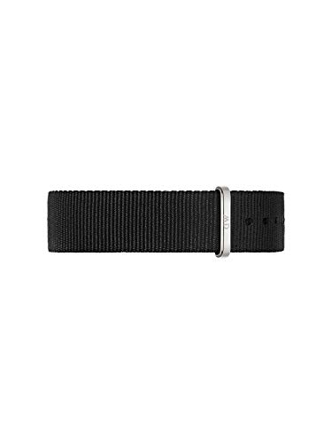Daniel Wellington Unisex Uhren-Armband Classic Cornwall Nylon 20mm schwarz / silber