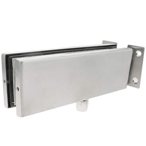 PrimeMatik LK082-VCES Pernio y bisagra Fija Superior de Aluminio para Puerta de Cristal para cierrapuertas de Suelo (LK082)