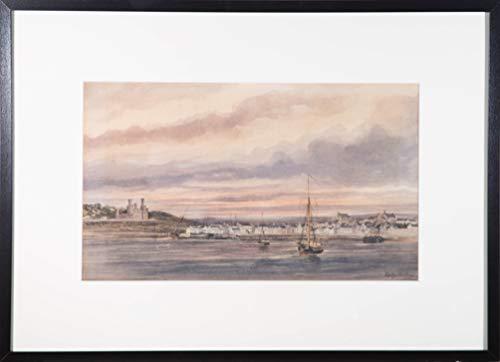 Sulis Fine Art Atrrib. Copley Fielding (1787-1855) Aquarell aus dem 19. Jahrhundert Castle At Dusk