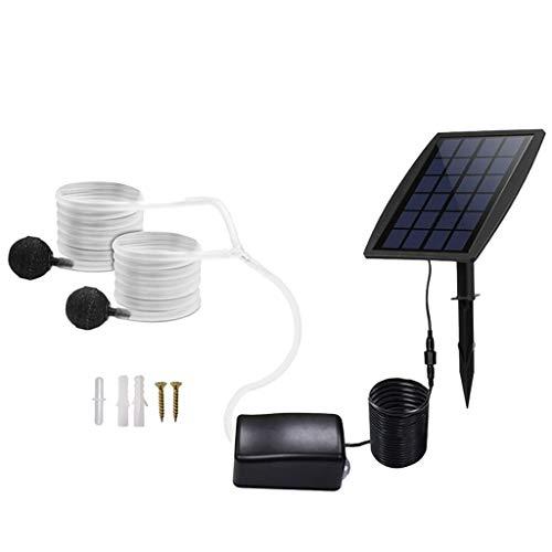 Amuzocity Bomba de Aire Solar Portátil, Aireador Impermeable Del Oxígeno Del Usb para Pescar