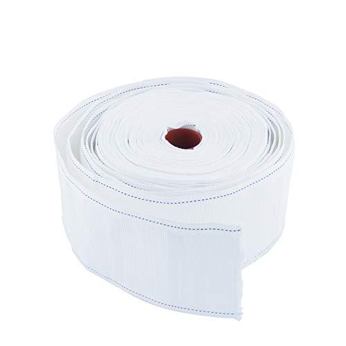 INCREWAY - Cinta de cortina (poliéster, 10 m), color blanco