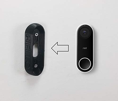 Hallo deurbel 30 graden hoek afstandhouder / wandsteun / beugel / camera director voor NEST: (BLACK)