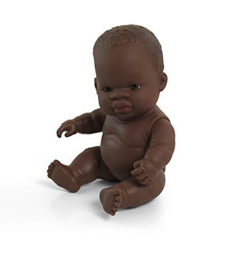 Miniland miniland31144 21 cm Afrikaans meisje pop zonder ondergoed in zak