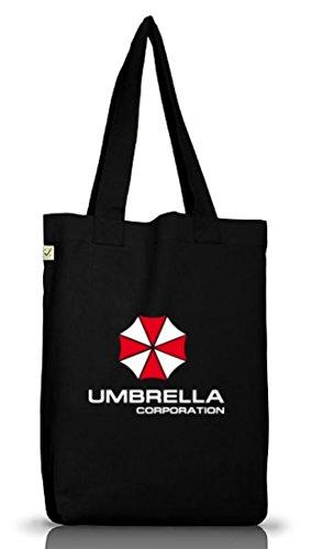 Shirtstreet24, Umbrella Corporation, Jutebeutel Stoff Tasche Earth Positive, Größe: onesize,Black