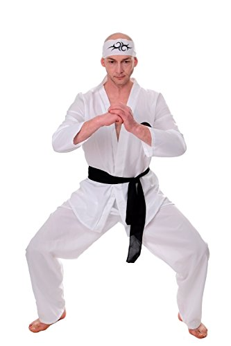 Dress Me Up - Kostüm Herren 80er Karate Ninja Kungfu Actiontrash Gr. S / M L205