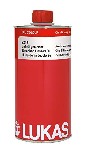 LUKAS Leinöl Gebleicht 1000 ml D. 2212, 1 l, K22121000