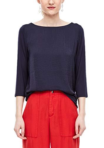s.Oliver Damen T-Shirt, 5835 dark steel blue, 36