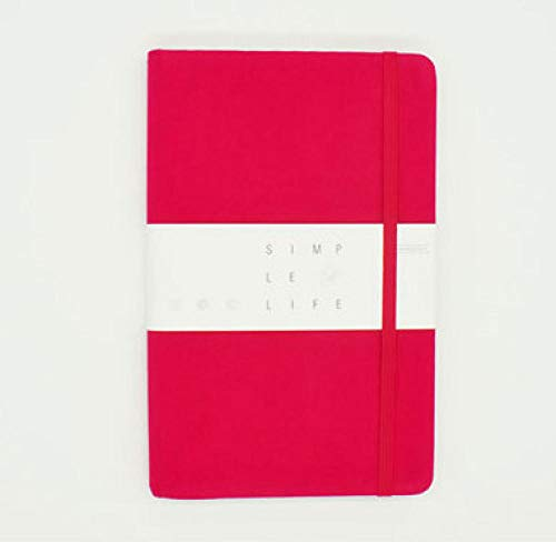 Bullet notebook diario A5, cubierta de tela (dura) 160 páginas, papel de alta calidad 100 GSM, papel de tinta impermeable-E