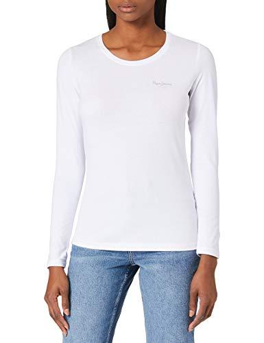 Pepe Jeans Amberta Camiseta, 803off White, XL para Mujer
