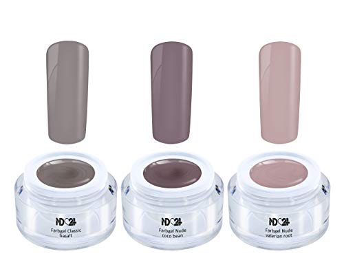 3 x 5ml - Light Nude Collection Set - Color Gel - Uv Led Braun Haut Farben - Made In Germany