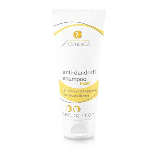 AESTHETICO anti-dandruff shampoo - Starkes Anti-Schuppenshampoo, zur kurartigen Anwendung, befreit von hartnäckigen Schuppen, mit Selen und Teebaumöl, 100 ml