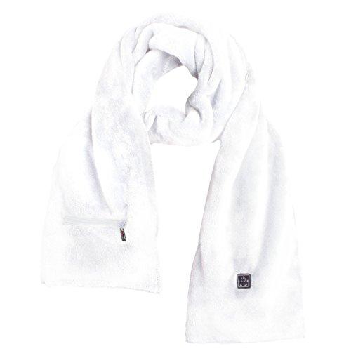 Glovii Écharpe Thermoactif Votre Power Bank Chauffée Noir/Gris/Blanc UNI (Blanc)