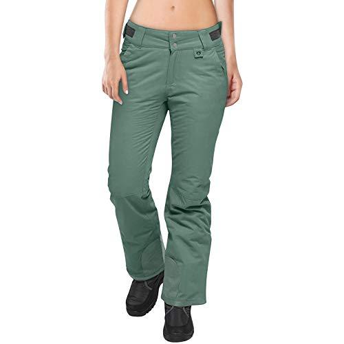 Pantalones de Bolsillo de Color sólido con Monos de Nieve con Aislamiento Unisex para Mujeres y Hombres
