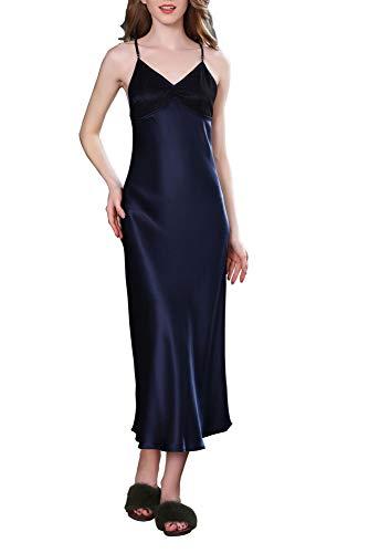 Paradise Silk Damen Unterkleid Blau dunkelblau Gr. Medium, dunkelblau