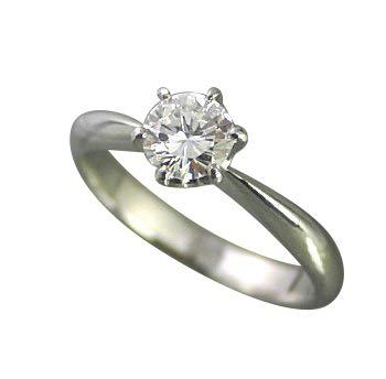 婚約指輪 エンゲージリング ダイヤモンド プラチナ 0.3ct GIA鑑定書付ダイヤモンド ティファニータイプ枠 0.30ct Dカラー SI2クラス 3EXカット GIA サイズ7号