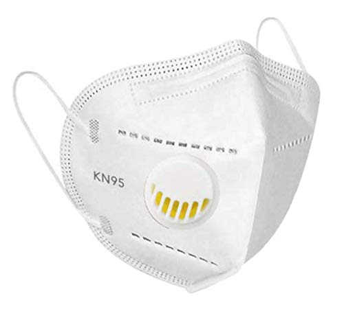 Scrafts K-N95 Non-Woven KN95RM Protective Mask With Elastic Earloop & Respirator (White, Made in India)