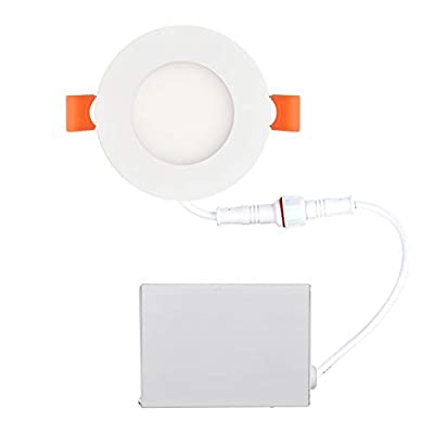 OSTWIN 3 inch LED Recessed PROFILE SLIM ROUND PANEL Light with Junction Box