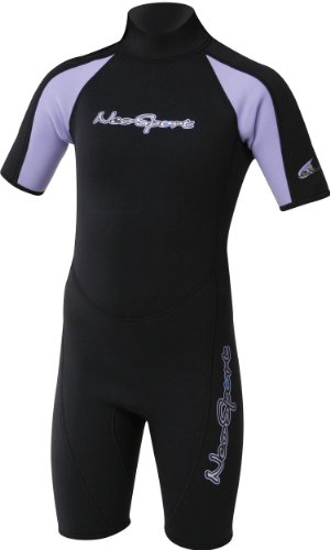 NeoSport Wetsuits Junior Premium Neopreno 2,5 mm Junior Shorty, Unisex, 405275, Lavender Trim