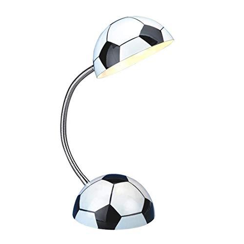 BJLWTQ Fútbol cúpula de luz Creativa Mesa de luz, Simple Protección de los Ojos Ajustable Dormitorio Sala de Angle niños Estudio lámpara de cabecera 80 * 160 * 400 mm de la decoración del hogar