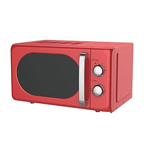 Kooper Vintage Forno Microonde Elettrico 22lt Rosso 700w 20 l 700 W, 20 Litri, Acciaio