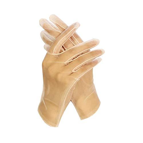 Zarte Hochzeitshandschuhe Kurze Fünf-Finger-Handschuhe Brautkleid-Handschuhe Hochzeitszubehör für Damen Damen