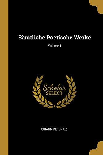 SAMTLICHE POETISCHE WERKE V01