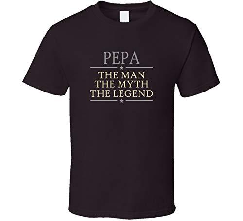 YONGMAO PEPA Uomo Myth Legend t Shirt Cioccolato Scuro Oro L