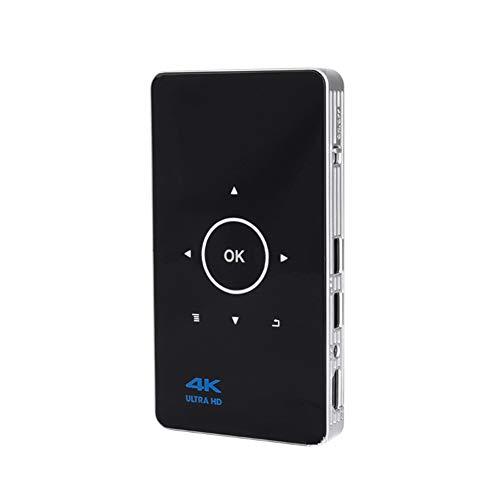 YPJKHM Proyector de Video Mini proyector HD Mini Hogar Teléfono móvil portátil Micro proyector Proyector Juego de Entretenimiento KTV Proyector 3D-black32GB