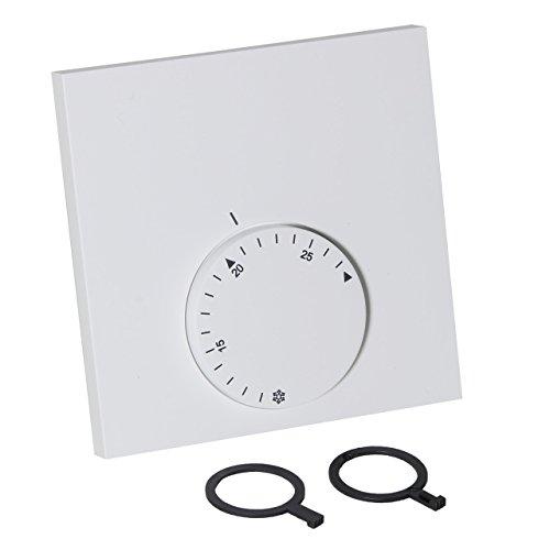 Alpha Direct - Termostato analógico para calefacción por suelo radiante (230 V), color blanco