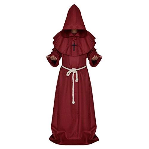 Backbayia - Vestido con capucha para disfraz de Halloween
