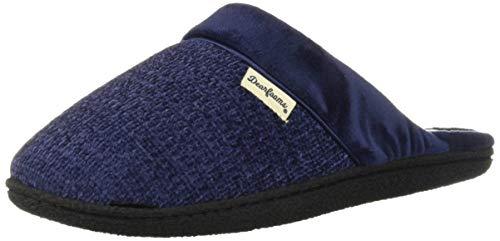 Dearfoams Women's Samantha Knit Closed Toe Scuff Slipper, Peacoat, X-Large