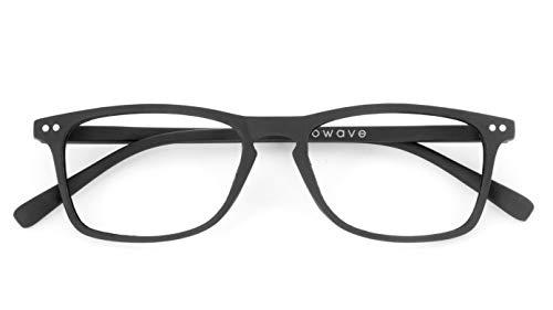 Occhiali Lettura +1.50 | Occhiali da presbite per PC e Smartphone|Occhiali riposanti ANTI LUCE BLU 40% e UV 100% | Unisex |+1.50 Nero