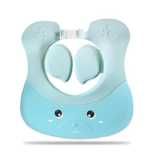 Gorro De Champú para Niños Niños Baño de baño Bebé Champú Ajustable Shampoo Tapa Protectora Protectora Soft Cap Hat Gorra Impermeable (Color : Azul, Size : 27x26cm)