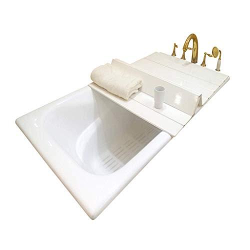 Cubierta de bañera Plegable Bandeja de baño Carga de una Sola Pieza 4,5 kg 20 tamaños Material de PVC Aislamiento de bañera Soporte Plegable Almacenamiento a Prueba de Polvo Experiencia de s