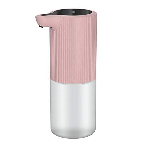 Abester Dispensadores automáticos de jabón líquido de 350 ML, Material desinfectante, dispensador de jabón en Aerosol automático inductivo, Suministros de Cocina y baño-Rosado