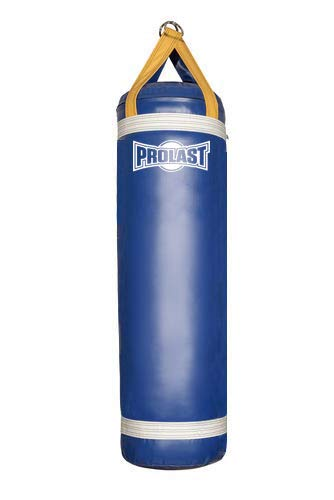 PROLAST Heavy Bag for Punching and Kicking- Great for Boxing, MMA, Muay Thai and Kickboxing for The Best Fitness Workouts (4ft Blue and Yellow, Filled with Bottom D-Ring)