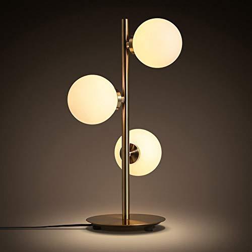ZHHk Lámpara de Mesa zhhhk Nordic Ball Warm Designer Creative Home Living Room Dormitorio Estudio Lámpara De Mesa Decorativa