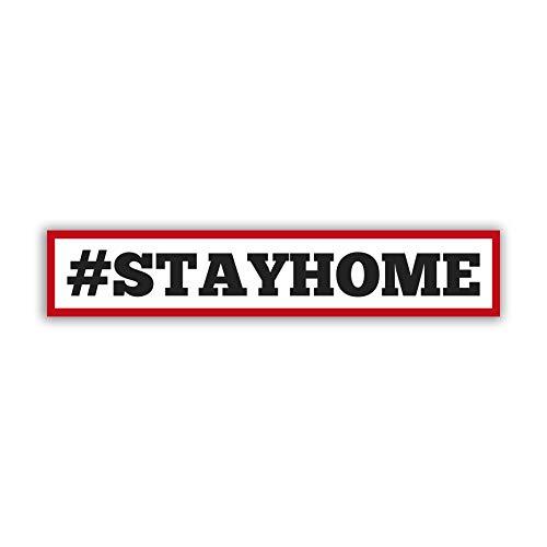 Hinweis Aufkleber #stayhome WirBleibenZuhause Corona Schutz Digitaldruck