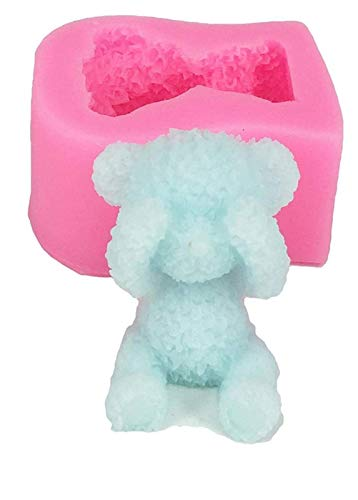 Vases 3D Teddy Bear Mold - 3D Teddy Bear Fondant Mould - Silicone Animal Mold - Soap Candle Mold For Gummy, Chocolate, Candy Fondant, Cake Baking, Cupcake Topper Decoration